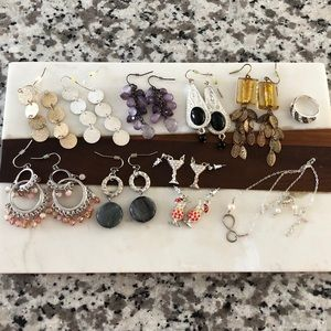 Jewelry - Mixed Jewelry Lot Earrings Ring Necklace